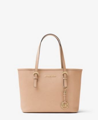 Jet Set Travel Saffiano Leather Small Tote