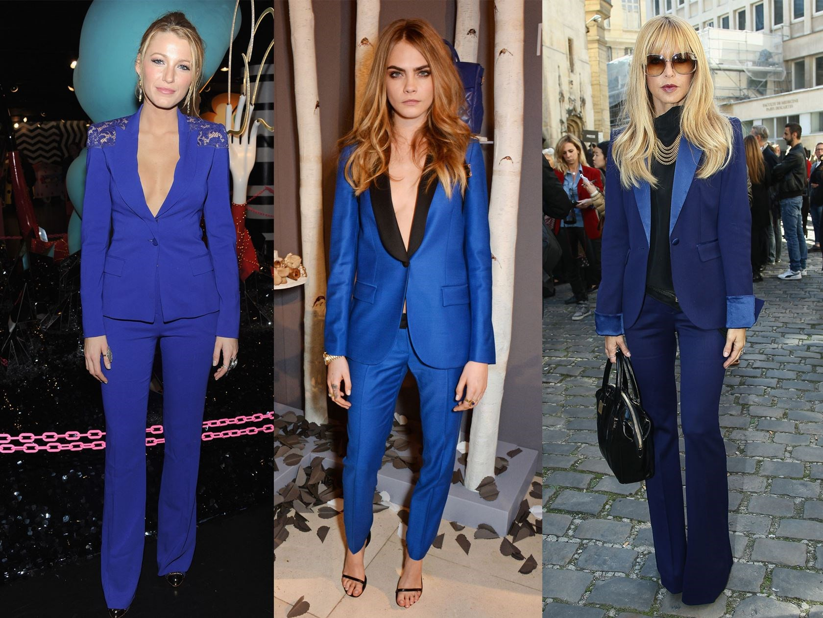 **2. Blue Suit** Alternatively, give your coords an fresh twist by opting for piercing blue hues. If you're keen to wear your two piece to an evening due, feel free to leave your shirt at home for added ~stylish~ vibes.