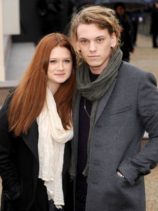 *Harry Potter* stars Bonnie Wright and Jamie Campbell Bower were engaged before they decided to call it quits in 2012 </3