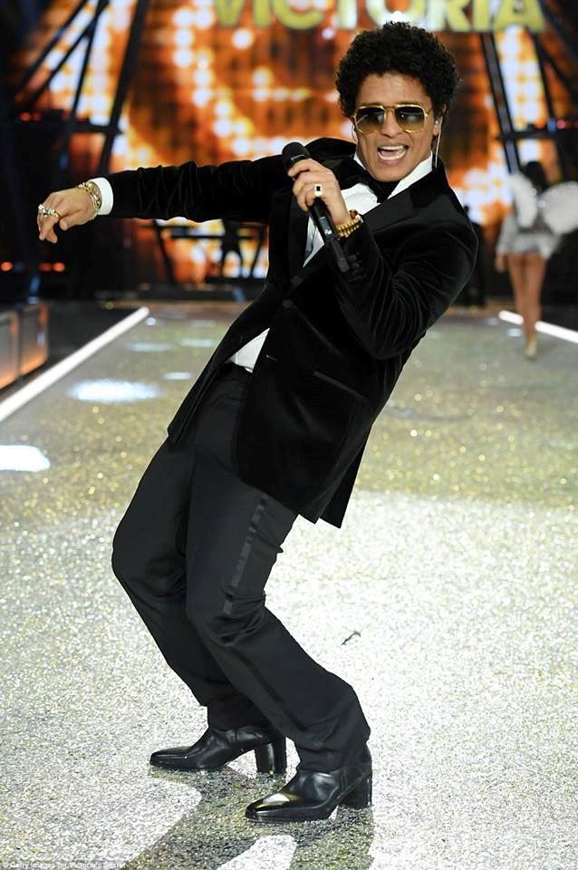 Bruno Mars wore heels.