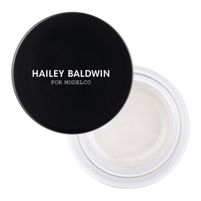 ModelCo Hailey Baldwin On-The-Glow Cream Highlighter in Spotlight, $45.