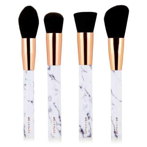 **MARBLE COLLECTION** We need #everything to be marble in our lives, so these are a MUST. They even have rose-gold on them ugh <3. [*Marble Shut The Contour Brush Set*](http://us.skinnydiplondon.com/products/marble-shut-the-contour-brush-set), $60.