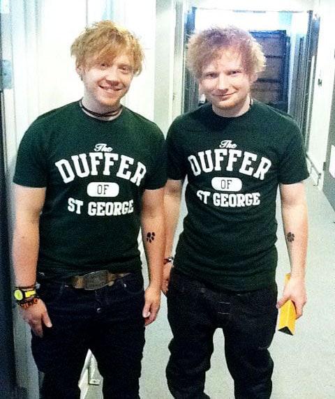 Rupert Grint a Ed Sheeran