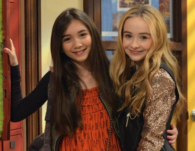 Rowan Blanchard and Sabrina Carpenter play best friends on Girl Meets World.