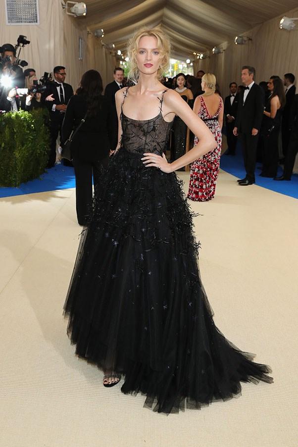 Daria Stokous in Dior.