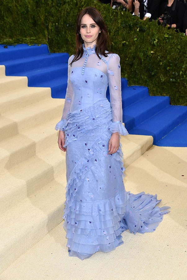 Felicity Jones in Erdem.