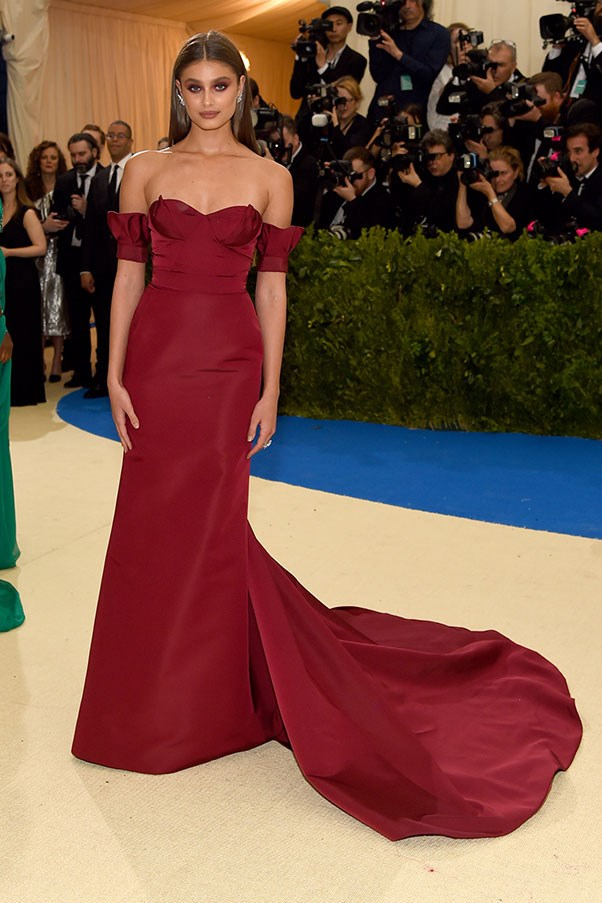 Taylor Hill in Carolina Herrera.