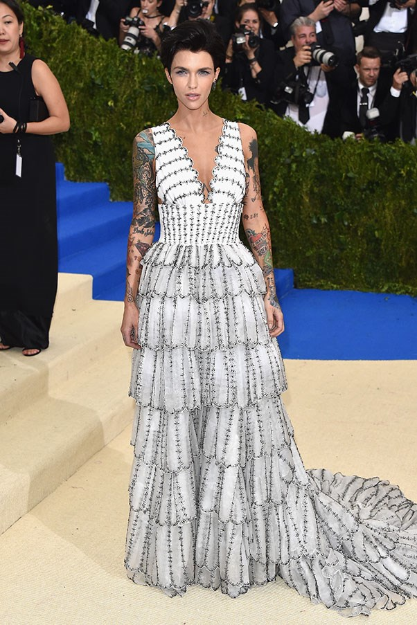 Ruby Rose in Burberry.