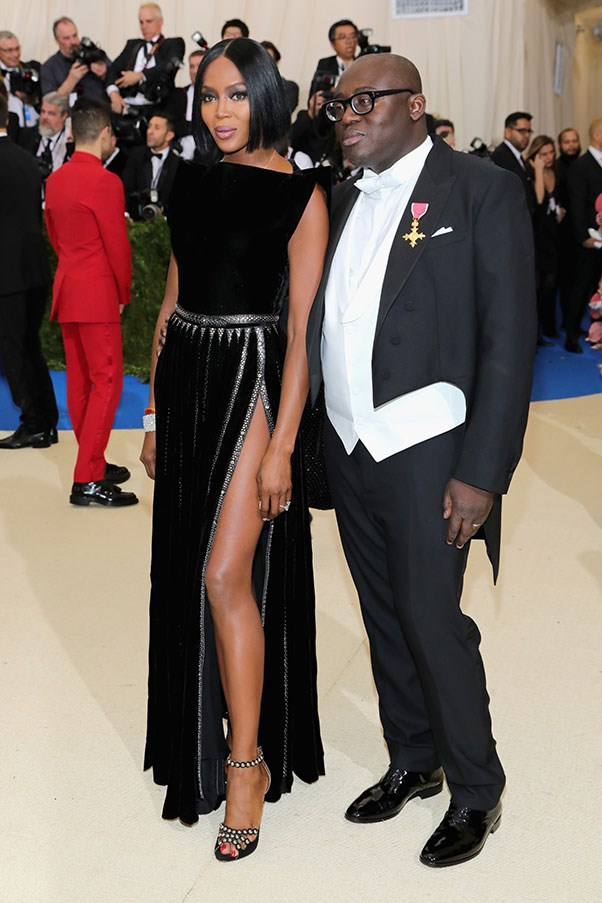 Naomi Campbell and Edward Enninful.