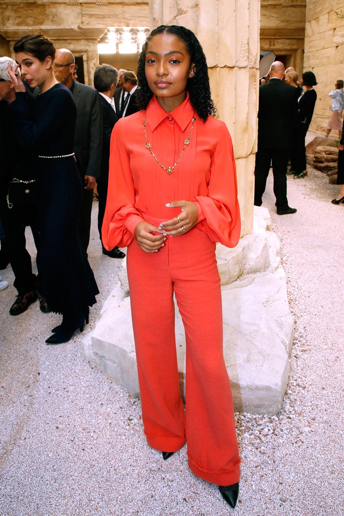 Who: Yara Shahidi  Where: Chanel Cruise '18  What: American actress  Age: 17