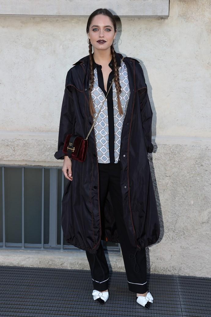 Who: Matilde Gioli  Where: Prada Resort '18  What: Italian actress  Age: 27