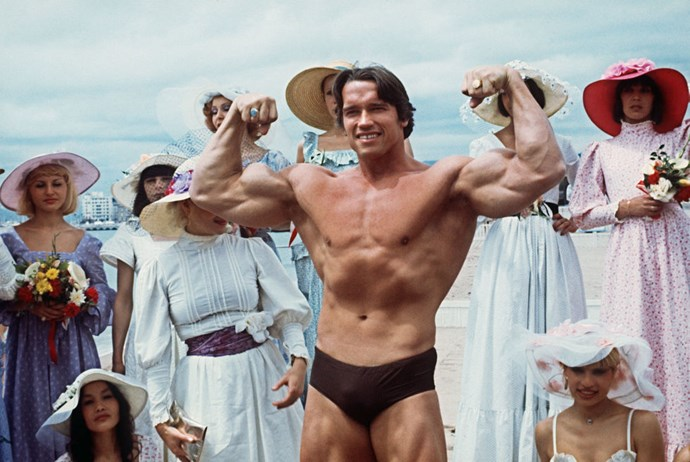 **ARNOLD SCHWARZENEGGER, 1977**  Just a few years before he became The Governator.