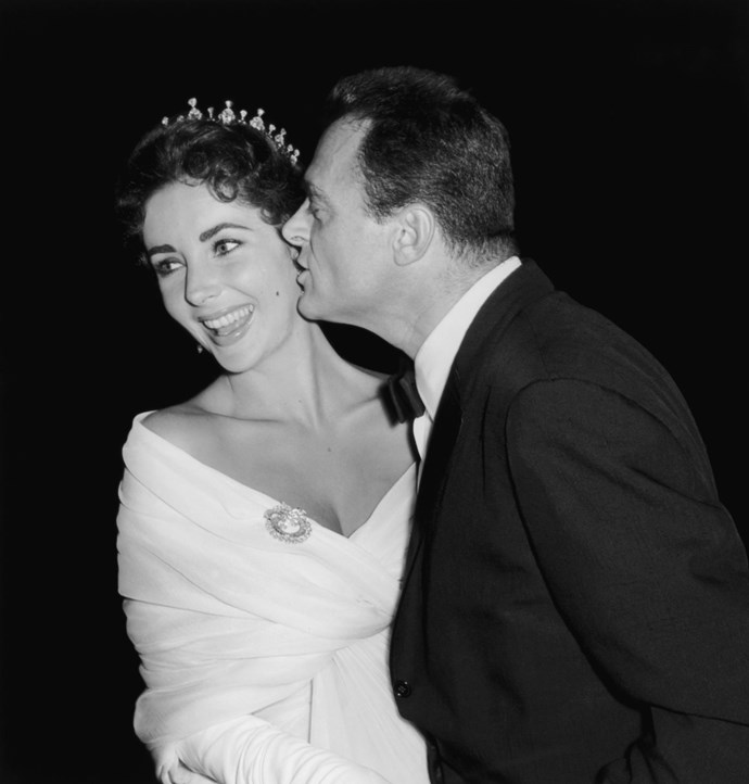 **ELIZABETH TAYLOR AND MIKE TODD, 1957**  Who doesn't love a tiara?