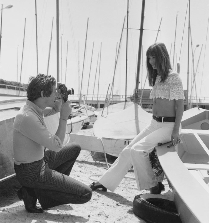 **SERGE GAINSBOURG AND JANE BIRKIN, 1969**  Girlfriend seriously knew how to work a crop top.