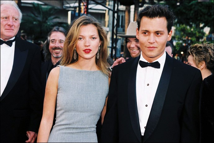 **KATE MOSS AND JOHNNY DEPP, 1997**  So young. So freaking beautiful.