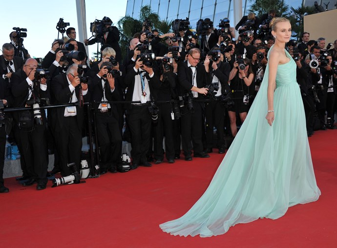 **DIANE KRUGER, 2012**  And this Giambattista Valli gown.
