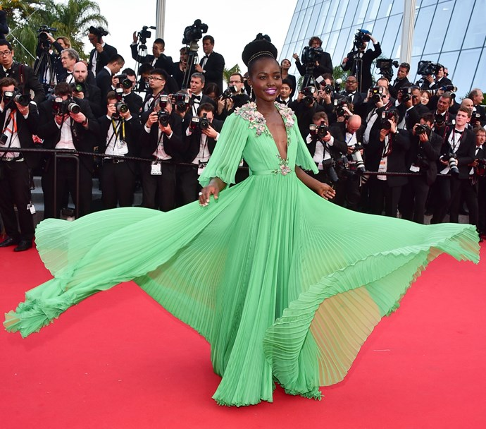 **LUPITA NYONG'O, 2015**  A Gucci confection made to twirl.