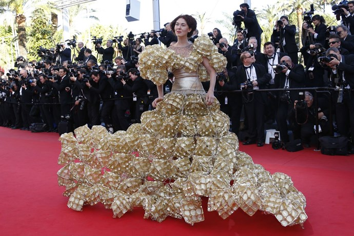 **COOKIE ENTHUSIAST, 2013**  A dress made of cookie trays? Why not?