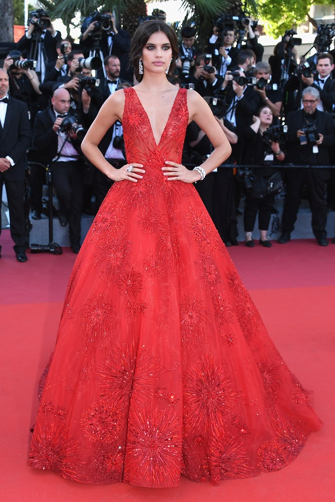 Sara Sampaio in Zuhair Murad Couture.