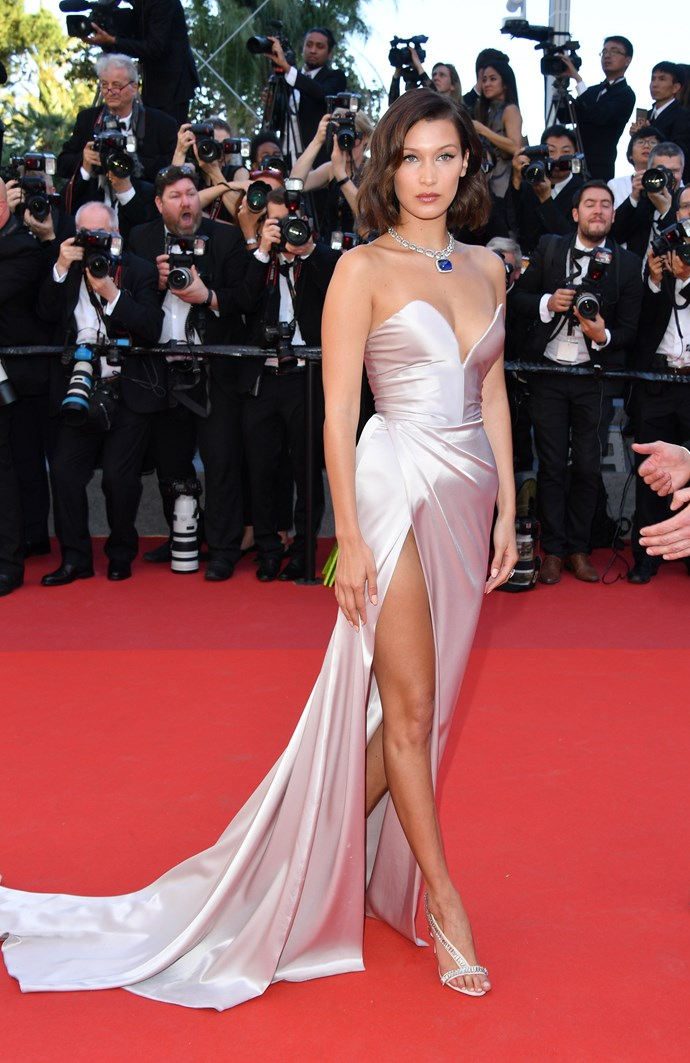 Bella Hadid in Alexandre Vauthier Couture.