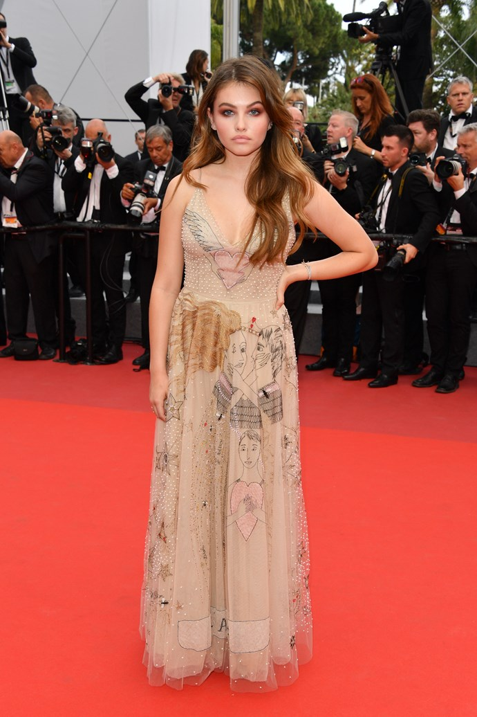 Thylane Blondeau in Dior.