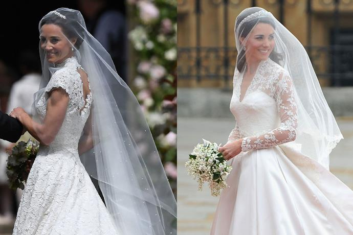 See pippa middleton 39 s giles deacon wedding dress elle for Giles deacon wedding dresses