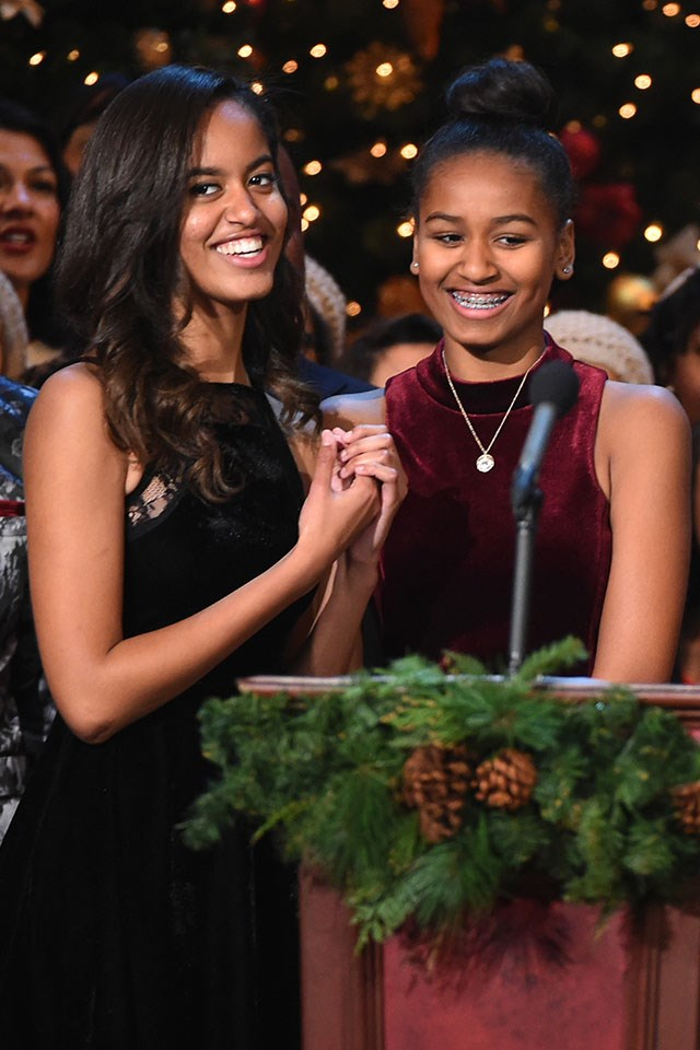 Sasha Obama's (right) real name is Natasha Obama.