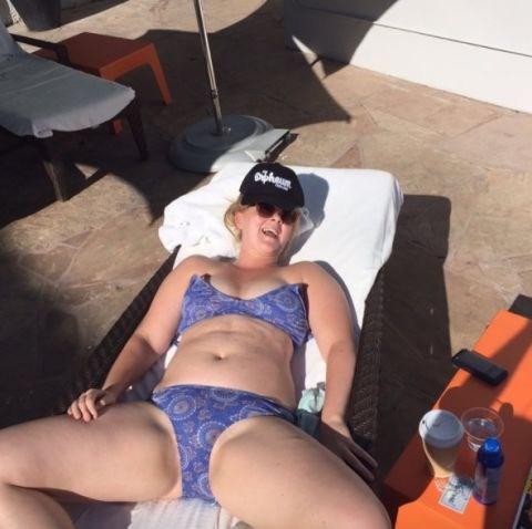 **AMY SCHUMER** <br></br> Schumer is all of us when it's too hot too function on holiday.