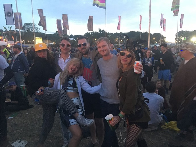 Laura and her friends at the festival.