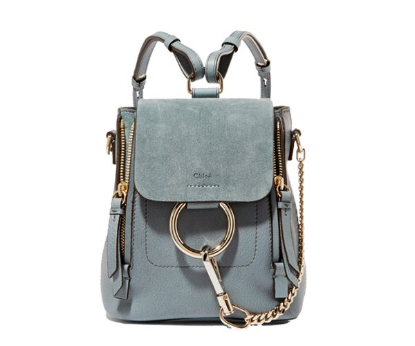 Backpack, $1,490, Chloé at [Net-A-Porter](https://www.net-a-porter.com/us/en/product/896965/chloe/faye-mini-leather-and-suede-backpack)