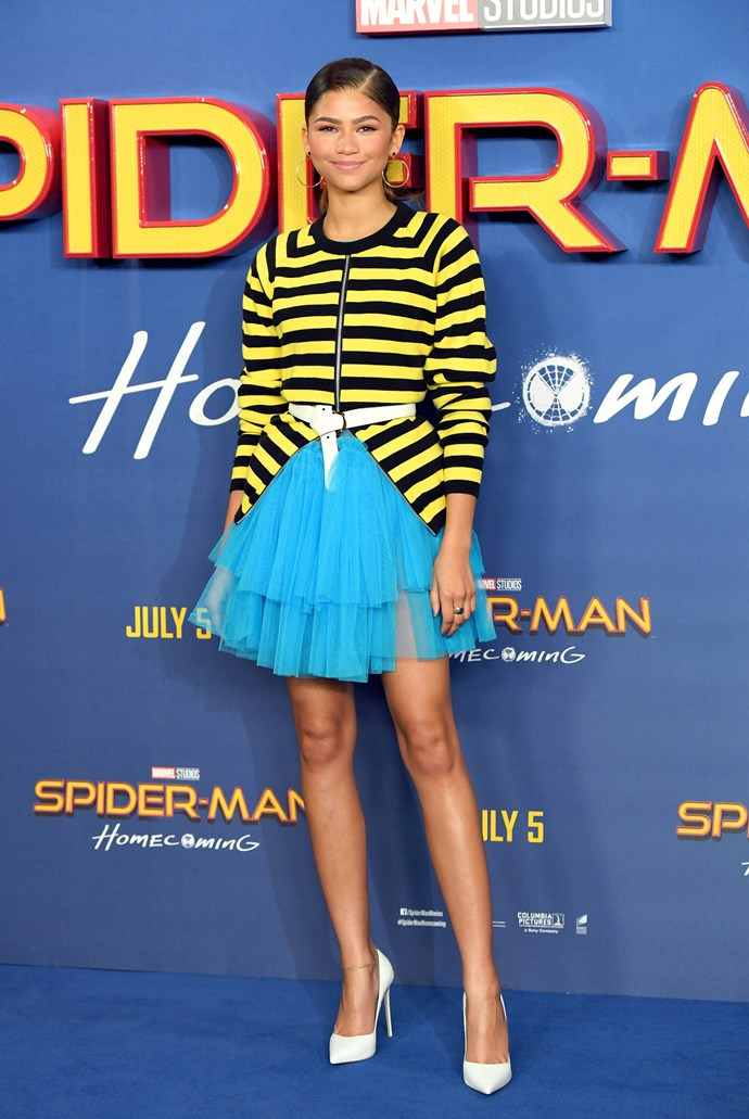 At a London photocall for 'Spider-Man: Homecoming', June 2017.