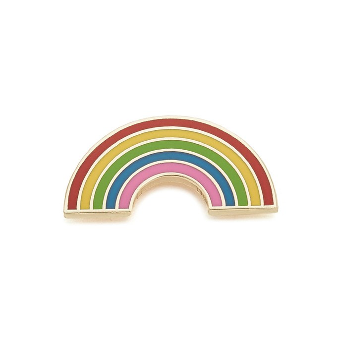 Rainbow pin, $19, [Georgia Perry at shopbop.com](https://www.shopbop.com/rainbow-pin-georgia-perry/vp/v=1/1568916286.htm?fm=search-viewall-shopbysize&os=false).