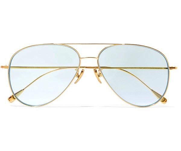 CUTLER AND GROSS Gold-Tone Aviators, $817.02, at [Net-A-Porter](https://www.net-a-porter.com/au/en/product/955625/Cutler_and_Gross/aviator-style-gold-tone-sunglasses).