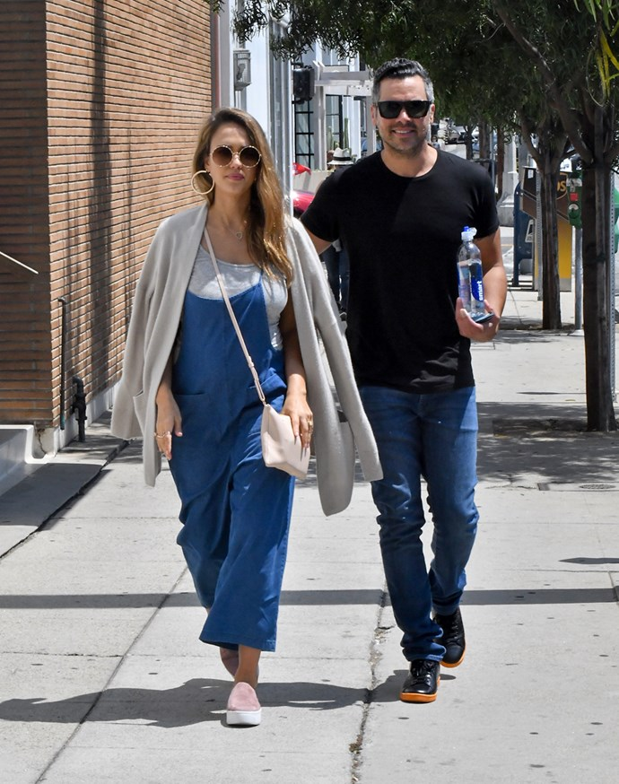 In L.A with husband Cash Warren, 20th August 2017.