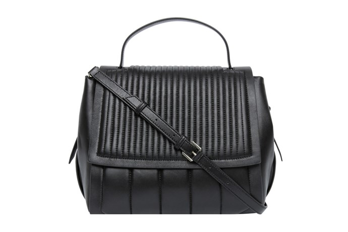 Bag, $549, DKNY at [Myer](https://www.myer.com.au/shop/mystore/handbags/484472980-484480720) <br><Br> **Compartments:** Three, plus two slip pockets and one zip pocket.