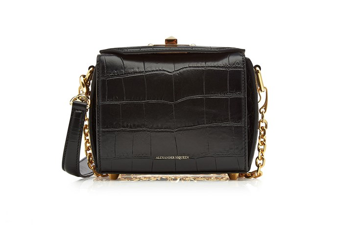 Bag, $2,263, Alexander McQueen at [StyleBop](http://rstyle.me/n/cshbsdvs36) <br><Br> **Compartments:** Three, plus a card slot and a zippered pocket.