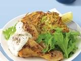 Peri peri chicken with potato cakes