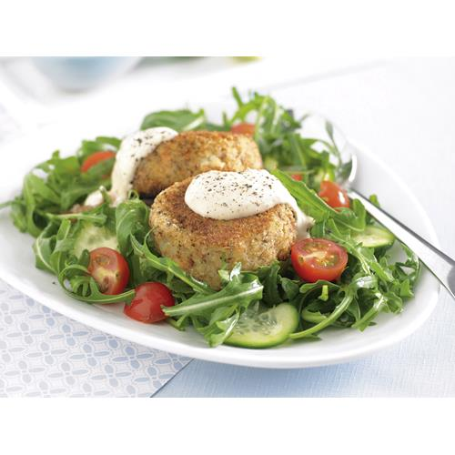 ... brown salmon patties with horseradish mayonnaise recipe   Food To Love