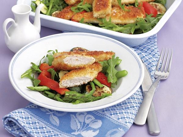 Chicken Schnitzel Salad