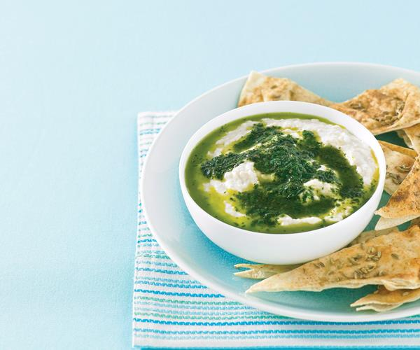 White bean dip with basil oil recipe | Food To Love