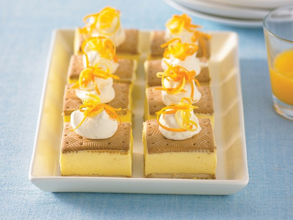 Citrus curd cheesecake slice