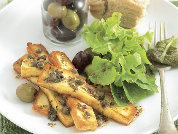 Grilled Haloumi with Oregano Dressing