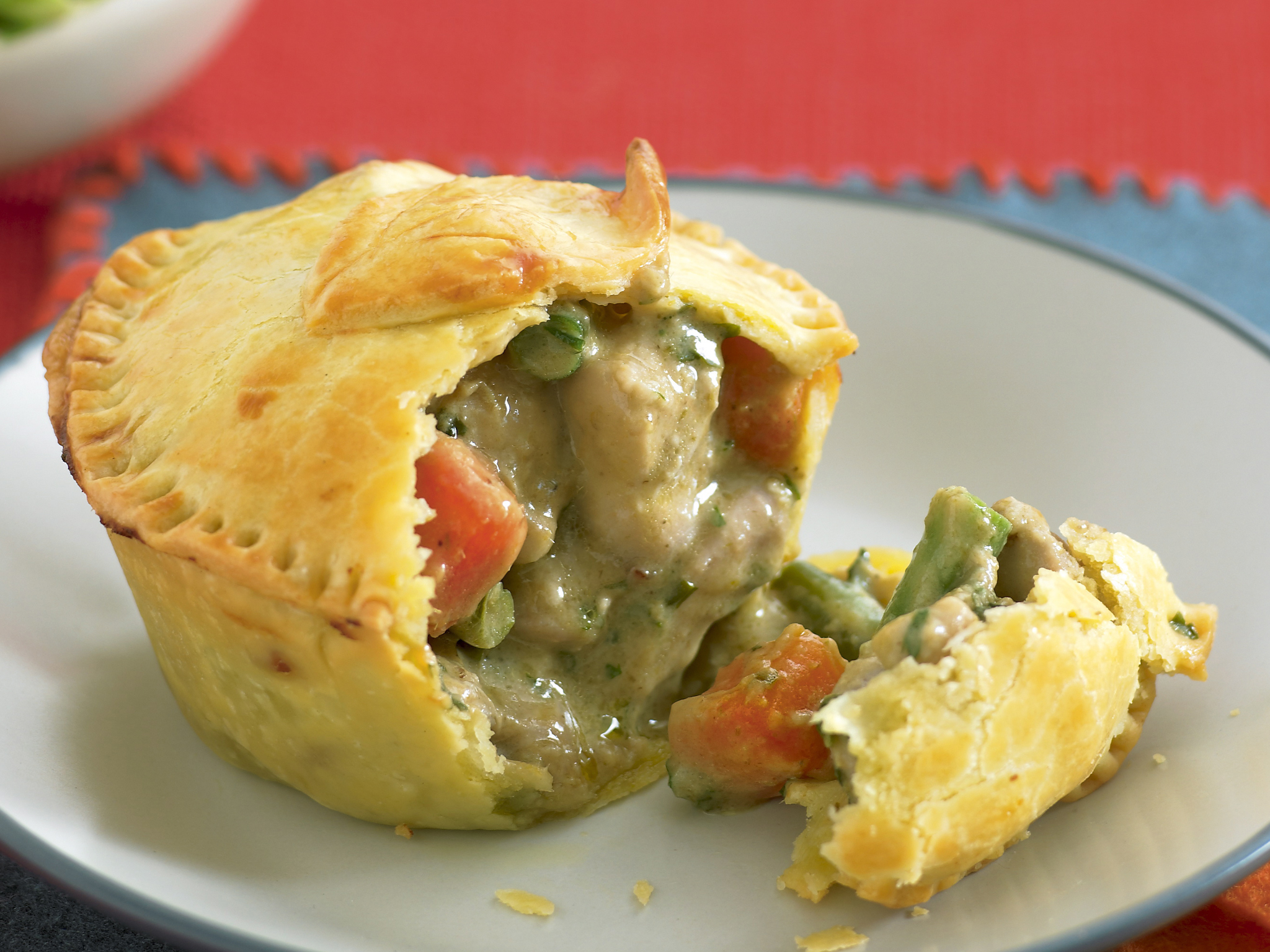 Recipes for curry chicken pie