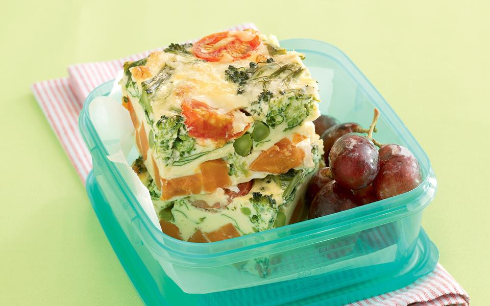 Baked layered vegetable frittata recipe | FOOD TO LOVE