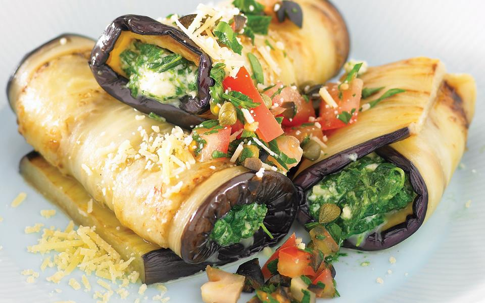 Spinach and eggplant cannelloni recipe | FOOD TO LOVE