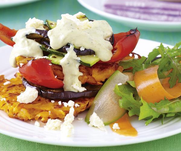 Kumara rosti and vegie stack recipe | Food To Love