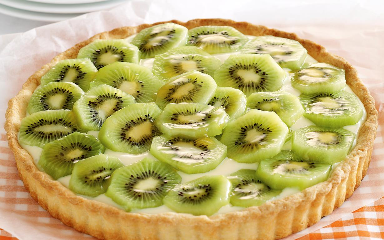 sweet ideas kiwifruit custard tart