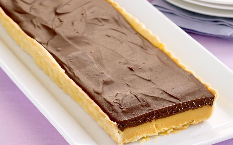 Milk Chocolate And Caramel Tart Recipe — Dishmaps