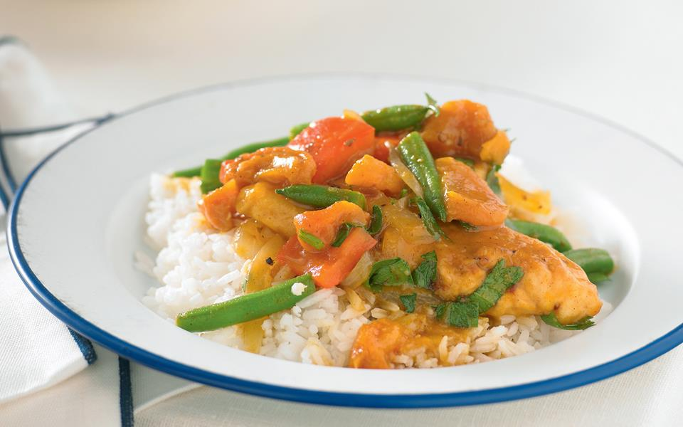 Apricot chicken with rice recipe | FOOD TO LOVE