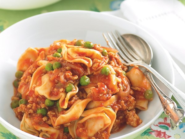 Pork and tortellini bolognese